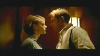 Carey Mulligan and Ryan Gosling in the elevator scene of Drive