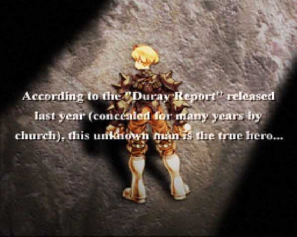 Final Fantasy Tactics prologue Alazlam