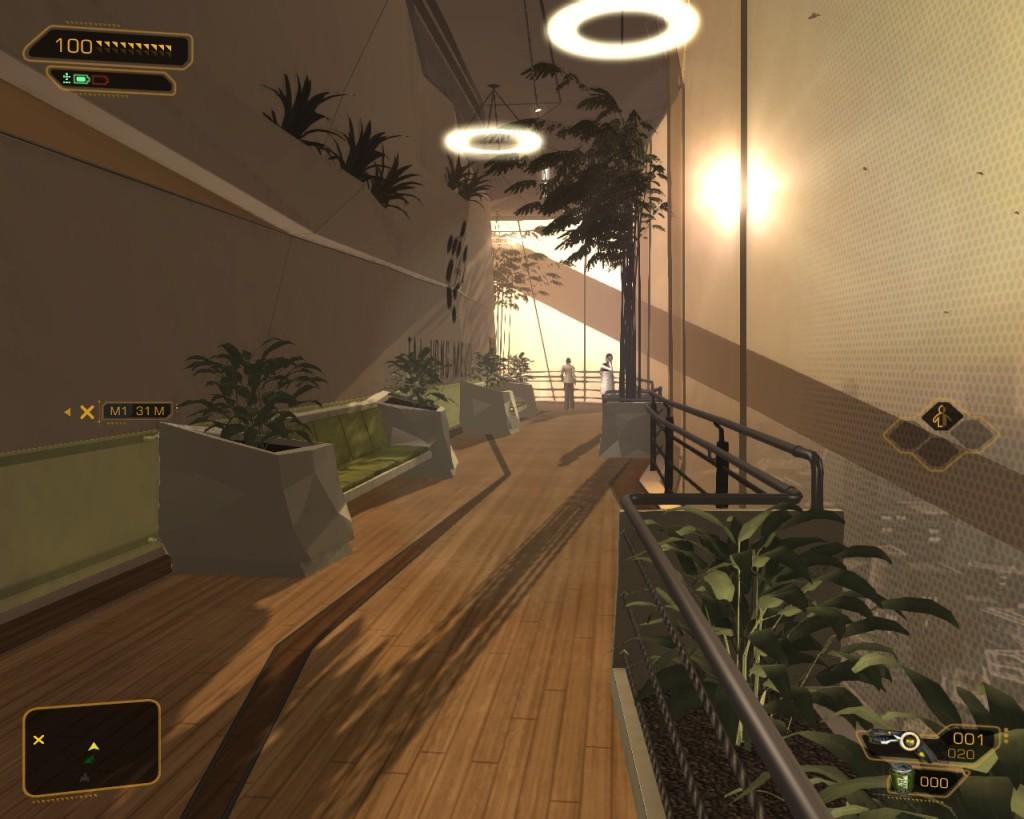 Deus Ex Human Revolutions  upper city garden