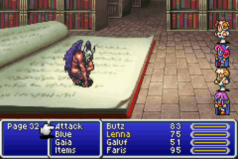 Final Fantasy V library
