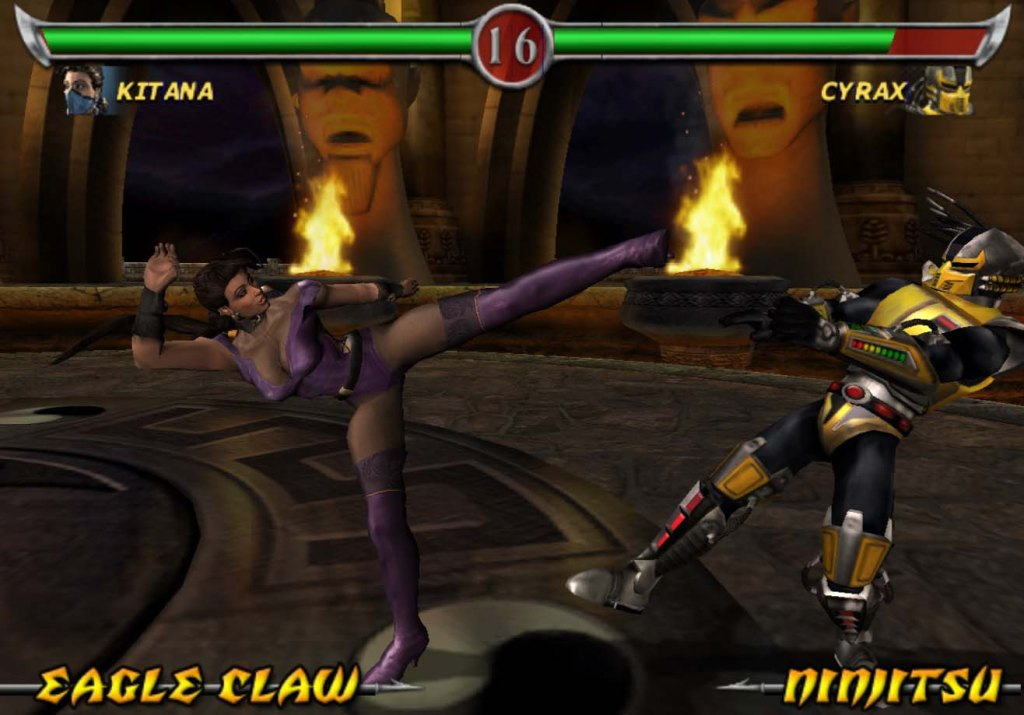 Mortal Kombat Deadly Alliance Kitana kick