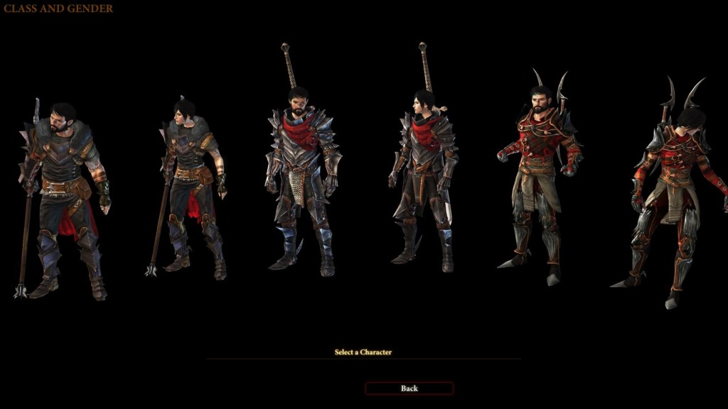 Dragon Age II Class Select