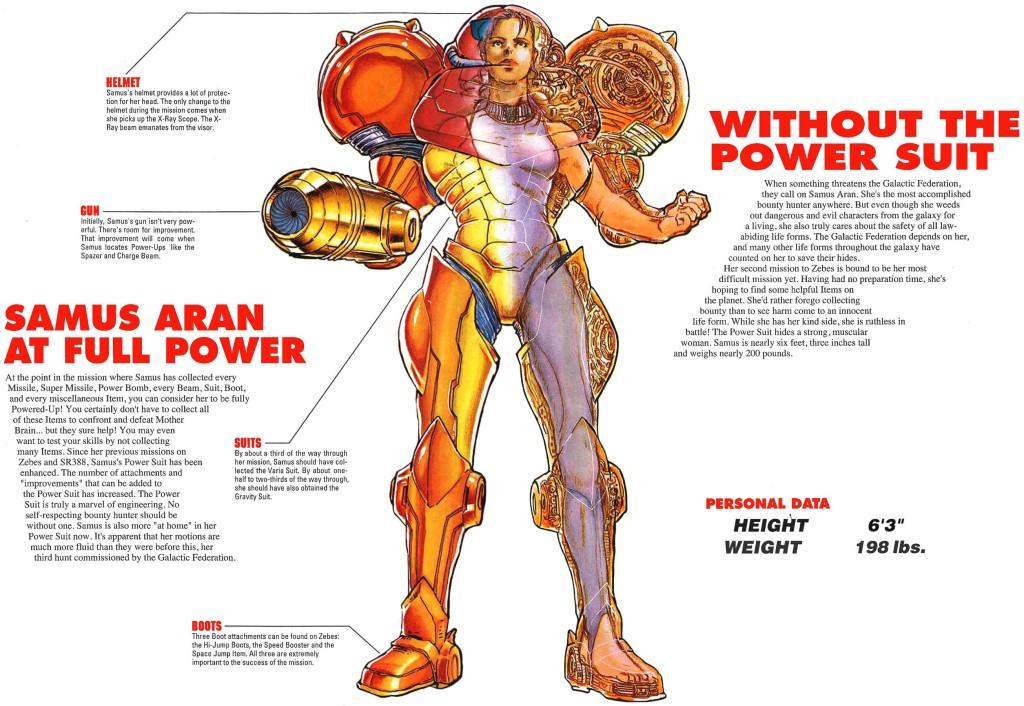 Super Metroid beneath varia suit