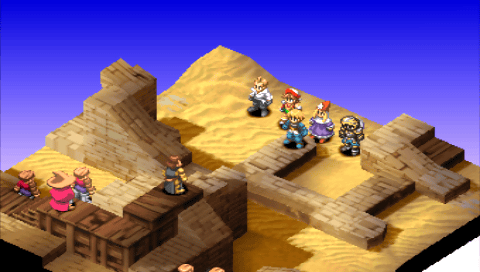 Final Fantasy Tactics desert fight
