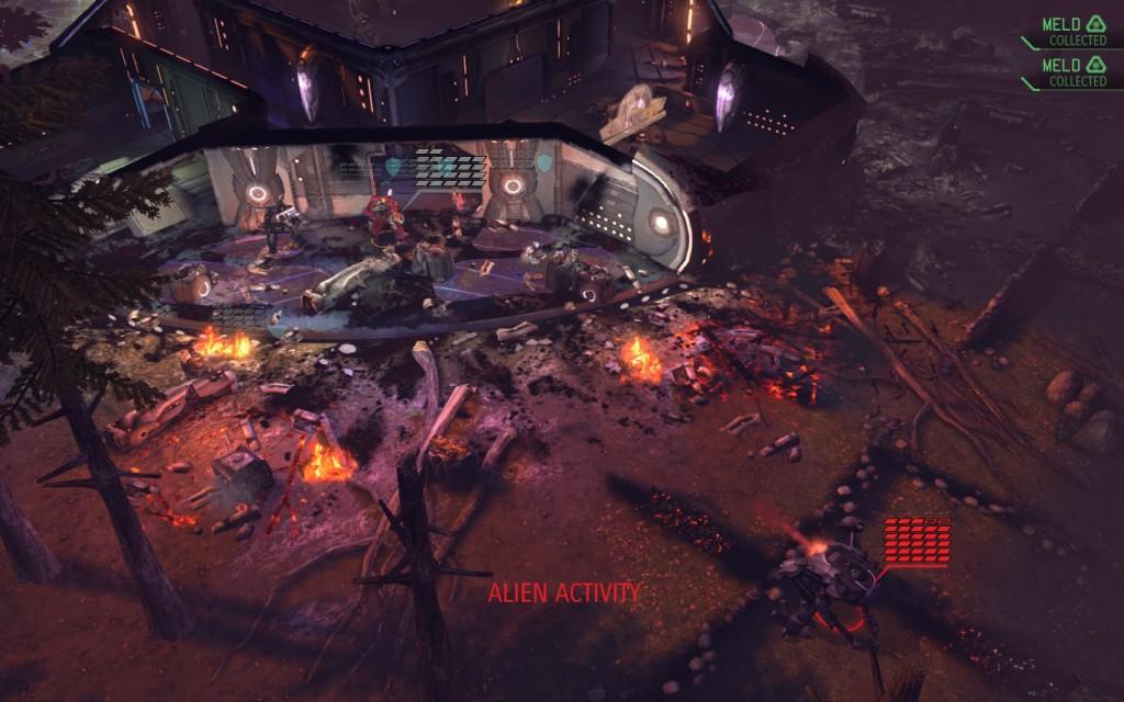 XCOM crashed ship