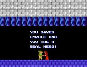 The Legend of Zelda II end