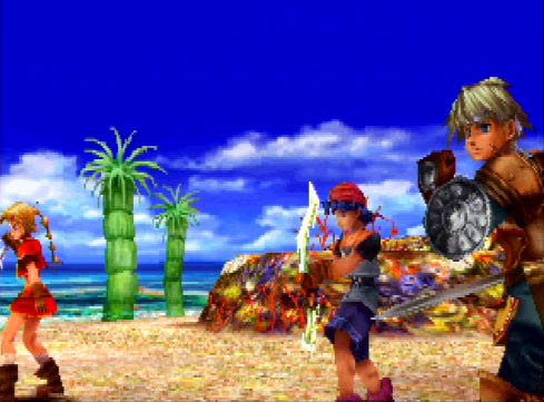Chrono Cross beach battle