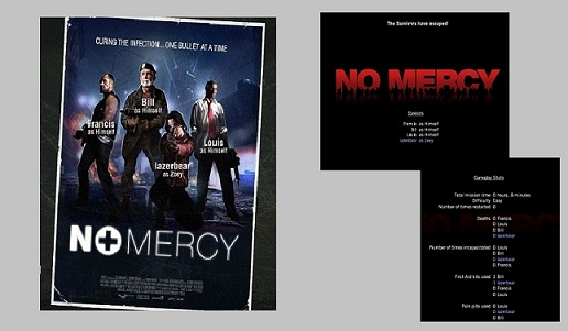 "Fig. 7. ""No Mercy"" Load Screen and End Credits (Valve Corporation)"