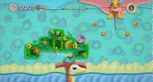 Kirby's Epic Yarn co-op screenshot
