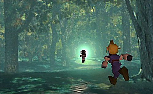 Final Fantasy VII sleeping forest
