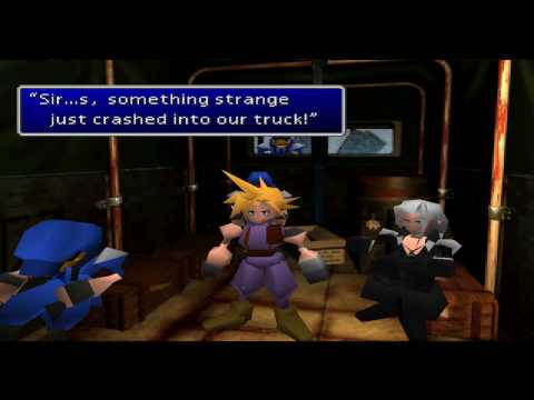 Final Fantasy VII truck crash