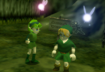 Legend of Zelda Saria and Link