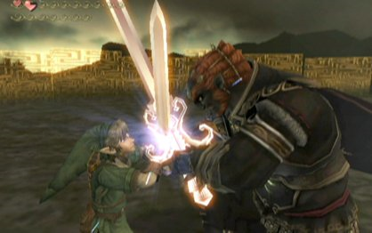 Legend of Zelda Twilight Princess swordfight