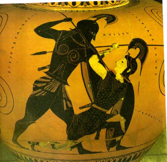 Achilles pottery art