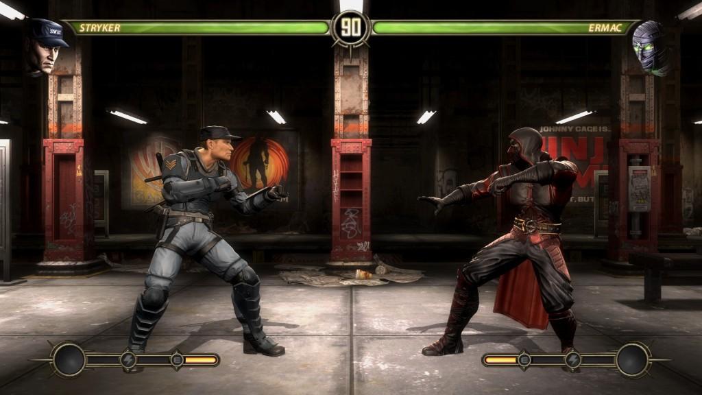 Mortal Kombat subway fight