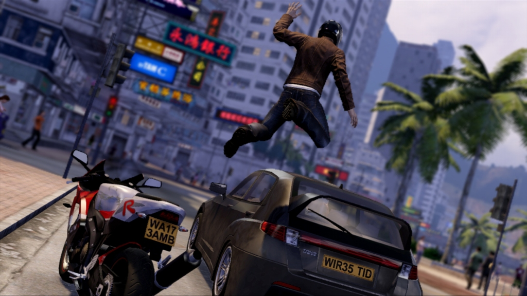 Sleeping Dogs car jump