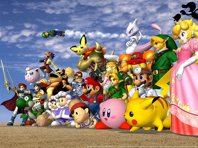 Super Smash Bros Melee character art