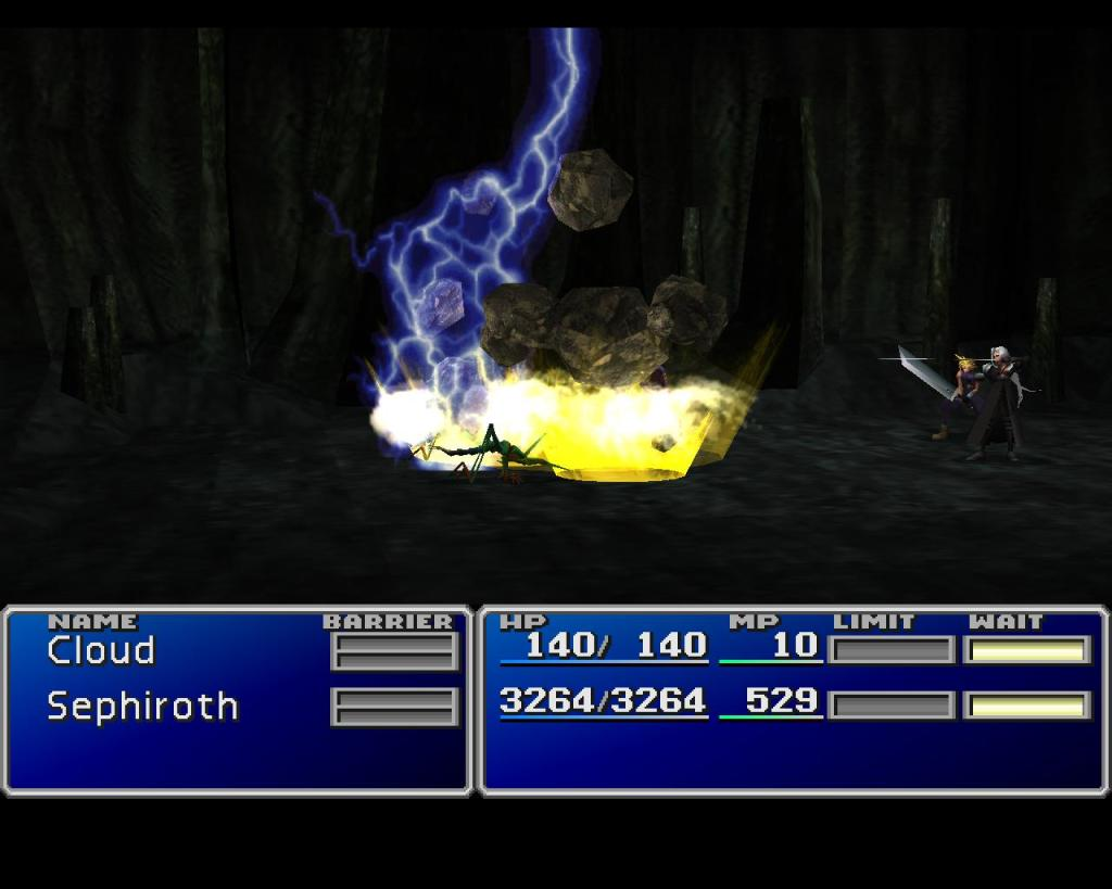 Final Fantasy VII Sephiroth fighting