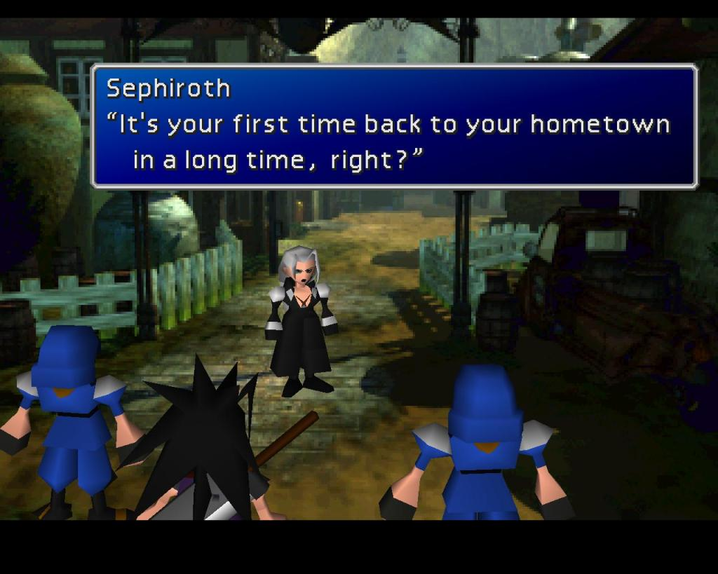 Final Fantasy VII Sephiroth Nibelheim flashback