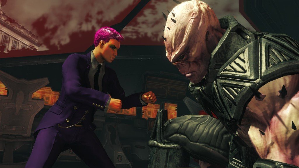 In Saints Row IV you spend more than the average amount of time fist fighting alien giants
