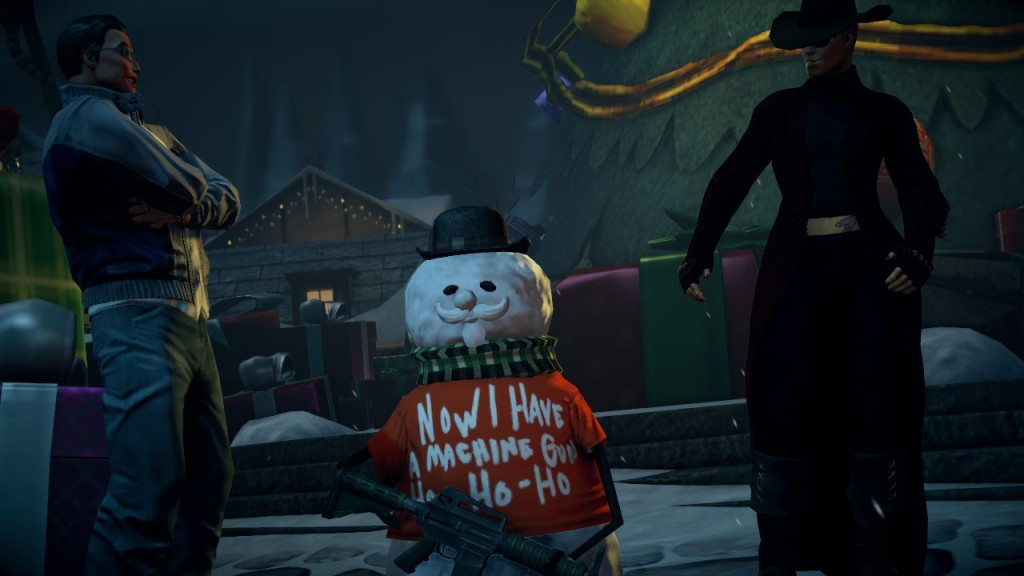 In Saints Row IV there is a downloadable pack where the player must save Christmas from a nightmare version of Santa.