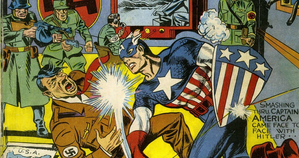 Captain America punching Hitler